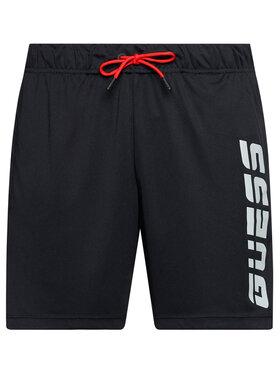 Guess Guess Szorty sportowe U1GA38 MC03Z Czarny Regular Fit