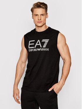 EA7 Emporio Armani EA7 Emporio Armani Tank top marškinėliai 3KPT80 PJ02Z 1200 Juoda Regular Fit