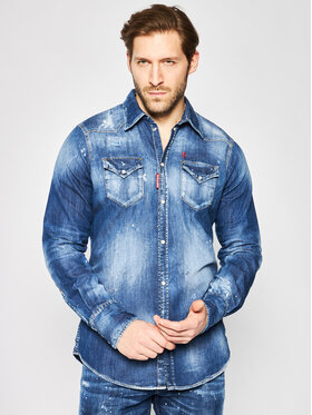 Dsquared2 Dsquared2 Camicia Classic Western Denim Shirt S74DM0392.S30341 Blu scuro Regular Fit