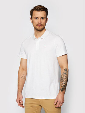 Tommy Jeans Tommy Jeans Tricou polo DM0DM10322 Essential Alb Regular Fit