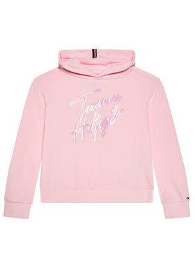 Tommy Hilfiger Tommy Hilfiger Bluza Script Print KG0KG05891 D Różowy Regular Fit