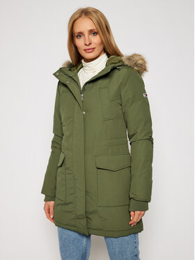 Tommy Jeans Tommy Jeans Parka Tjw Technical DW0DW09063 Verde Regular Fit