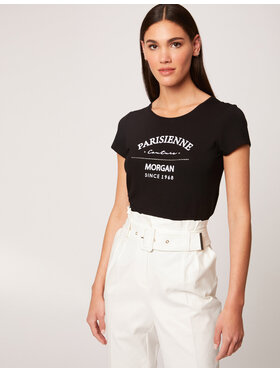 Morgan Morgan T-Shirt 212-DEMOA Černá Regular Fit