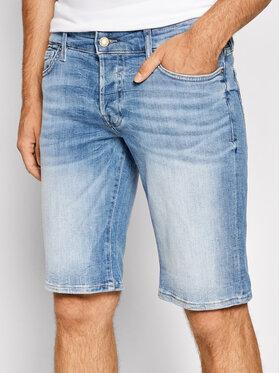 Guess Guess Kratke traperice M1GD01 D4B73 Plava Slim Fit