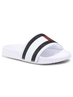 Tommy Hilfiger Tommy Hilfiger Mules / sandales de bain Flag Print Pool Slide T310-30675-0813 M Blanc