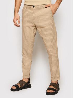 Imperial Imperial Pantalon en tissu PWB0BQI Marron Regular Fit