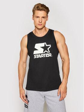 Starter Starter Tank top marškinėliai SMG-016-BD Juoda Regular Fit