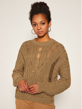 Guess Guess Sweter Ursula W0BR1L Z2R90 Złoty Regular Fit
