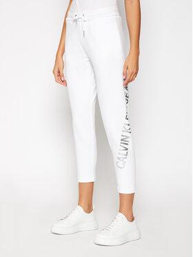 Calvin Klein Jeans Calvin Klein Jeans Teplákové nohavice J20J214892 Biela Regular Fit