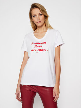 PLNY LALA PLNY LALA Marškinėliai Redheads PL-KO-VN-00128 Balta Regular Fit