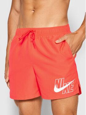 Nike Nike Плувни шорти Logo Lap 5 NESSA566 Червен Standard Fit