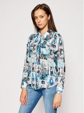 Guess Guess Koszula W61H38 W1V32 Niebieski Regular Fit