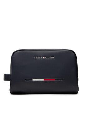Tommy Hilfiger Tommy Hilfiger Geantă pentru cosmetice Essential Pique Washbag AM0AM07827 Bleumarin