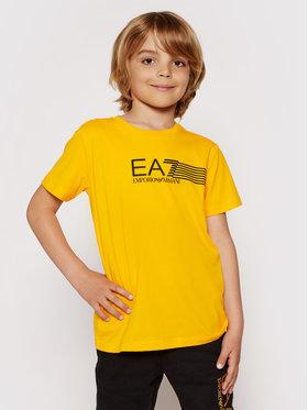 EA7 Emporio Armani EA7 Emporio Armani T-shirt 3KBT54 BJ02Z 1604 Žuta Regular Fit