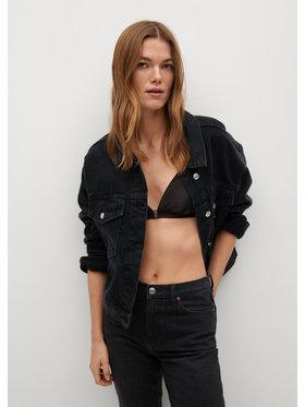Mango Mango Kurtka jeansowa Rachel 87044018 Czarny Regular Fit