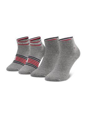 Tommy Hilfiger Tommy Hilfiger Sada 2 párů pánských vysokých ponožek 100002212 Šedá