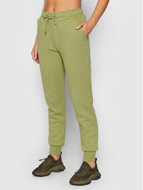 NA-KD NA-KD Spodnie dresowe Logo Basic 1044-000153-4083-003 Zielony Regular Fit