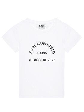 KARL LAGERFELD KARL LAGERFELD T-shirt Z15M59 M Blanc Regular Fit