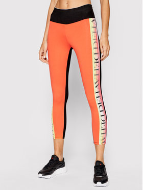 Deha Deha Leggings Logo Bands B44405 Arancione Slim Fit