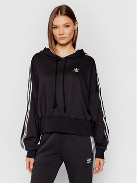 adidas adidas Sweatshirt adicolor Classics Satin Tape H37812 Noir Regular Fit