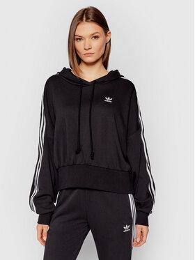 adidas adidas Sweatshirt adicolor Classics Satin Tape H37812 Schwarz Regular Fit