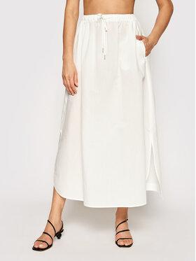 Max Mara Beachwear Max Mara Beachwear Midi suknja Utopico 31010118 Bijela Regular Fit