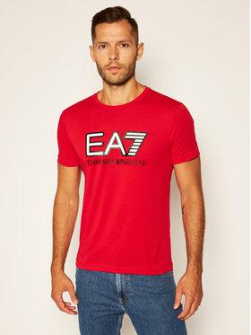 EA7 Emporio Armani EA7 Emporio Armani T-Shirt 6HPT81 PJM9Z 1451 Czerwony Regular Fit