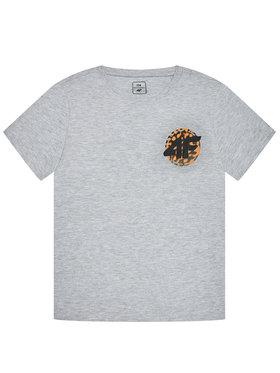 4F 4F T-Shirt JTSM012 Šedá Regular Fit