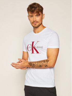 Calvin Klein Jeans Calvin Klein Jeans T-shirt Monogram J30J314551 Bianco Slim Fit