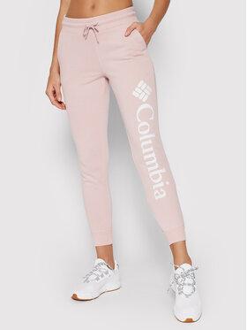 Columbia Columbia Pantaloni da tuta Logo Fleece 1940094 Rosa Regular Fit