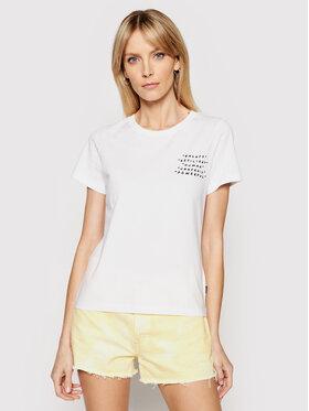 Converse Converse T-Shirt Empowerment Star Chevron 10022270-A01 Biały Standard Fit