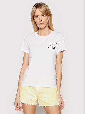Converse Converse T-shirt Empowerment Star Chevron 10022270-A01 Bianco Standard Fit