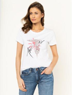 Trussardi Jeans Trussardi Jeans Póló 56T00256 Fehér Slim Fit