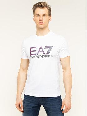 EA7 Emporio Armani EA7 Emporio Armani Tričko 3HPT15 PJ02Z 1100 Biela Regular Fit