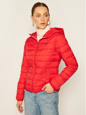 Tommy Jeans Tommy Jeans Pehelykabát Tjw Hooded Quilted DW0DW08672 Piros Regular Fit