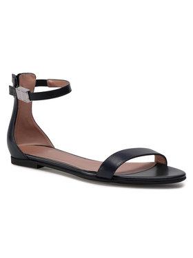 Boss Boss Sandały Carine Flat Sandal-C 50435168 Granatowy