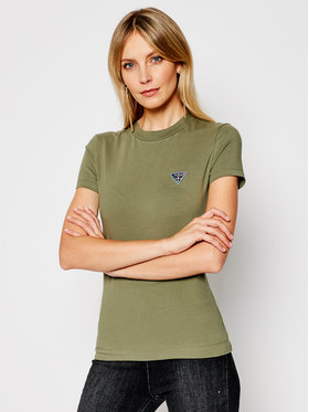 Guess Guess T-Shirt Mini Triangle Tee W1RI04 J1311 Zelená Slim Fit