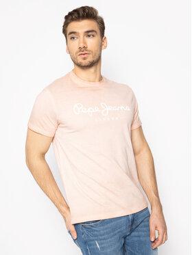 Pepe Jeans Pepe Jeans T-Shirt West Sir PM504032 Růžová Regular Fit
