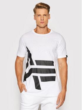 Alpha Industries Alpha Industries T-Shirt Side Logo 118508 Biały Regular Fit