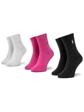 Polo Ralph Lauren Polo Ralph Lauren Σετ ψηλές κάλτσες παιδικές 3 τεμαχίων 447803239001 Σκούρο μπλε