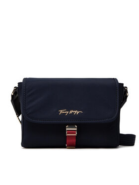 Tommy Hilfiger Tommy Hilfiger Torebka Relaxed Tommy Crossover Corap AW0AW10760 Granatowy