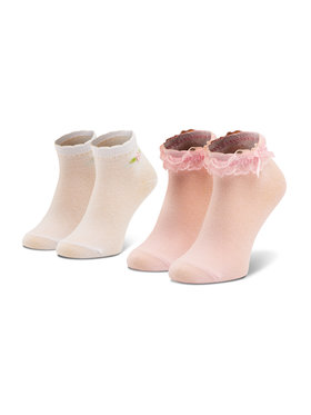 Mayoral Mayoral Комплект 2 чифта къси чорапи детски 10011 Розов