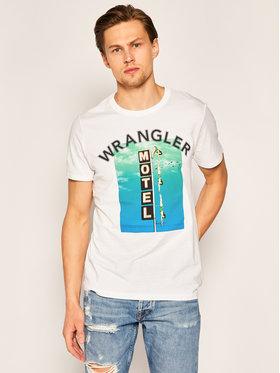 Wrangler Wrangler Тишърт Good Times W7F8FK989 Бял Regular Fit