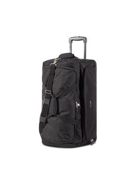 Dielle Dielle Nagy szövetborítású bőrönd 476 Fekete