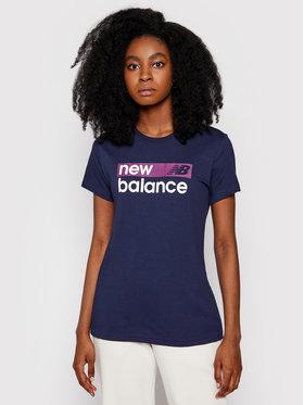 New Balance New Balance Póló WT03806 Sötétkék Ahletic Fit