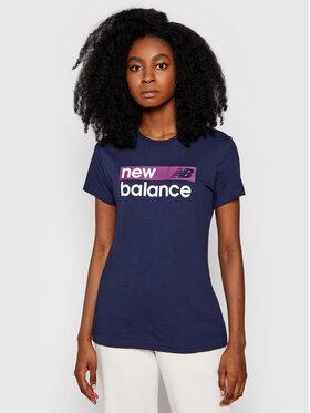 New Balance New Balance Tricou WT03806 Bleumarin Ahletic Fit