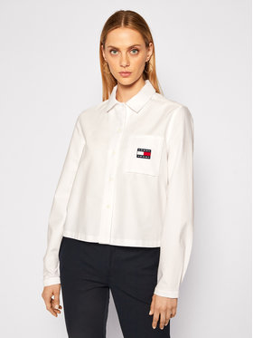 Tommy Jeans Tommy Jeans Hemd Tjw Badge Pocket DW0DW08918 Weiß Loose Fit