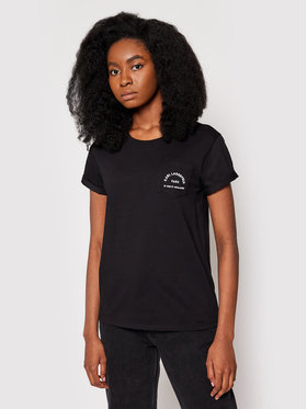 KARL LAGERFELD KARL LAGERFELD T-Shirt Address Pocket 201W1703 Černá Regular Fit
