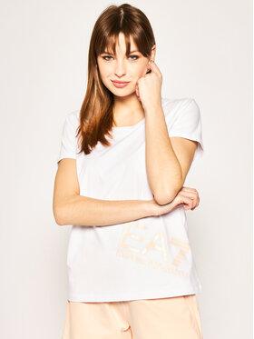 EA7 Emporio Armani EA7 Emporio Armani T-shirt 3HTT02 TJ29Z 1100 Blanc Regular Fit