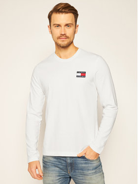Tommy Jeans Tommy Jeans Longsleeve Badge DM0DM09400 Λευκό Regular Fit